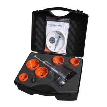 Hole saw kit with Spotless Pro